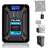 MOMAN FXLION V-Mount Batteria Caricabatterie con D-TAP, USB-C, USB-A, Micro USB Plugs, Peso 310g