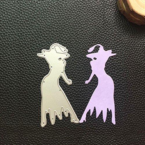 cywulin Happy Halloween Metall Formen Schablone Form Scrapbooking Prägung Album für Heimwerker Prägung Scrapbook Album Papier witzige Karte Decor Craft (D)