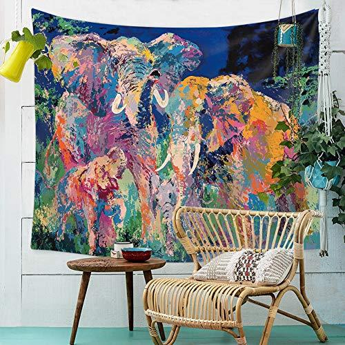 ZYBC Tapiz De Mandala De Elefante Psychedelic Wall Hanging Decor Home Hippie Bohemian Tapestry para Dormitorio Sala De Estar Dormitorios (03,XS)