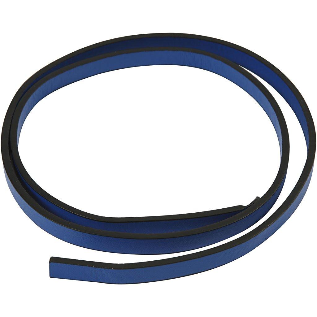 Cintura di finto cuoio, l: 10 mm, blu, 1m