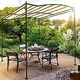 Miadomodo Garten Pavillon in Beige Partyzelt aus Stahl in der Größe 3 x 2.5 m, wasserabweisend mit Klettbändern