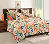 Swayam Multi Colour Extra Large Bed Sheet with Pillow Covers