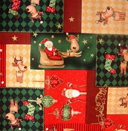 Toggles-Little-Reindeer-Patchwork-Puppy-and-Dog-Bandana-Extra-Small
