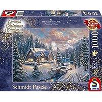 Schmidt-Spiele-Puzzle-59493-Thomas-Kinkade-Weihnachten-in-den-Bergen-Editio-1000-Teile-bunt Schmidt Spiele Puzzle 59493 Thomas Kinkade, Weihnachten in den Bergen, Editio, 1000 Teile Puzzle, bunt -