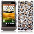 HTC One V Leopard Spots Diamante Case / Cover / Shell / Shield Part Of The Qubits Accessories Range