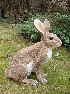 Grand lapin lapin karnickel Wild Figurine Décoration Jardin Figurine