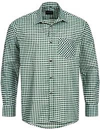 Trachtenhemd für Trachten Lederhosen Freizeit Hemd grün-kariert Gr. S-XXXL
