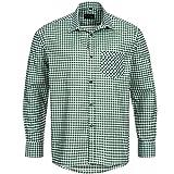 Bongossi-Trade Trachtenhemd für Trachten Lederhosen Freizeit Hemd grün-kariert Gr. XXL