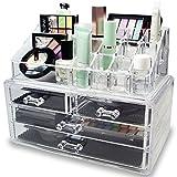 Ideal Qualität transparent Acryl Kosmetik Organizer Display Ständer Aufbewahrung Tisch für Make Up, Nagellack, Lack, Kunst und Kunsthandwerk, Pinsel-Sets, mit 4Schubladen und Schmuck