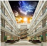 Wapel Fantasy Night Sky Light Cloud Decke Hintergrundbilder Für Wohnzimmer Home Decoration Tapete 3D Wandbild Seidenstoff 180x130CM