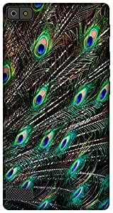 The Racoon Lean printed designer hard back mobile phone case cover for Blackberry Z3. (peacock fe)