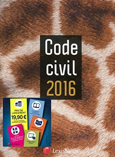 Code civil 2016 : jaquette Girafe