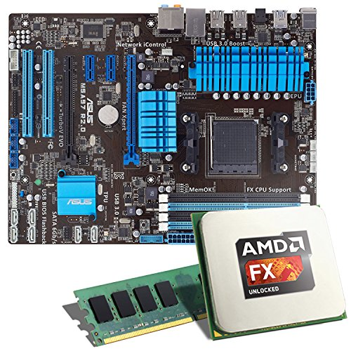 AMD FX-6300 / Asrock 970M Pro3 Mainboard Bundle / 8192 MB | CSL PC Aufrüstkit | AMD FX-Series FX-6300 6x 3500 MHz, 8 GB DDR3, Radeon HD 3000, GigLAN, 7.1 Sound, USB 3.1 | Aufrüstset | PC Tuning Kit