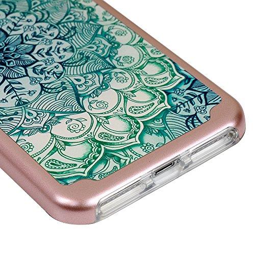 iPhone 7 Plus Hülle iPhone 7 Plus Crystal Case YOKIRIN Premium Hybrid Case Handyhülle Silikon Cover Dual Layer Schutzrahmen Durchsichtige TPU Schale + PC Farbenrahmen Schutzhülle Skin Handyschale Must Totem Blume Rose Gold