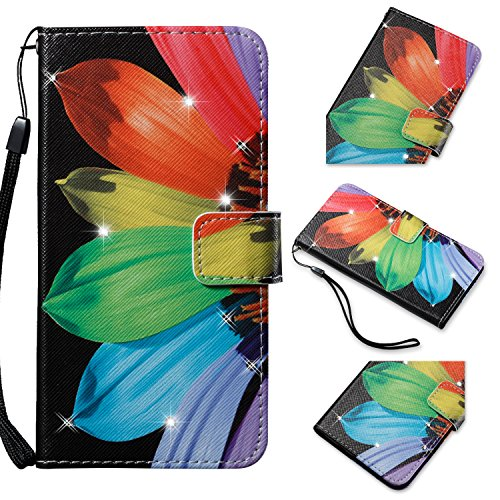 Alfort Cover Samsung J5 2015, Case Protettiva per Samsung Galaxy A5 2016 Cover di Cuoio Flip Stand Ci Sono funzioni di Supporto e Portafoglio Chiusura Magnetica (Girasole)