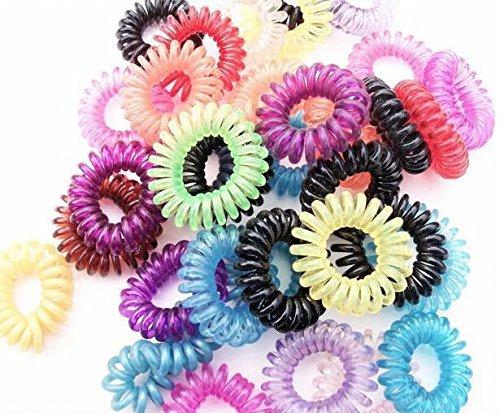 Hund Gold Haargummi Haarabbinder Telefonhaargummi Vielzahl elastisch Frauen Mädchen Dame Haarschmuck 10 Stücke(zufällige Farbe) (100 Pics Ca)