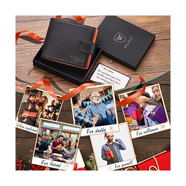 Portafogli Uomo RFID bloccante in pelle con cerniera portamonete e porta banconote e chiusura a bottoni e 17 porta carte… 2 spesavip