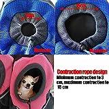 AsiaLONG Hundetasche Rucksack Atmungsaktive Haustier Rucksäcke mit Straps Netzfenster Hundetragetaschen für Kleine Hunde und Mittelgrosse Hunde Reise Umhängetasche (S, Blau) - 5