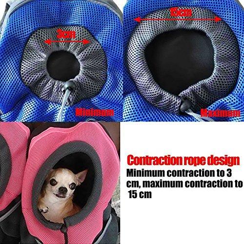 AsiaLONG Hundetasche Rucksack Atmungsaktive Haustier Rucksäcke mit Straps Netzfenster Hundetragetaschen für Kleine Hunde und Mittelgrosse Hunde Reise Umhängetasche (S, Grün) -