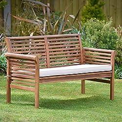Plant Theatre - Canapé de jardin 2 places en bois dur avec coussin inclus - Superbe qualité