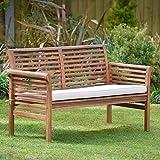 Plant Theatre - Sofá de jardín de 2 plazas de madera dura con cojín incluido. - Excelente calidad