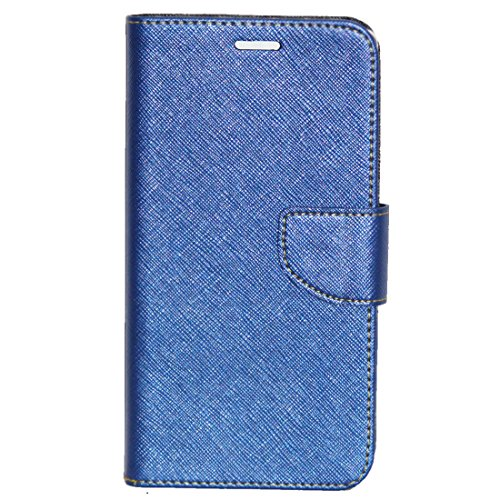 Zaoma Diary Wallet Type Flip Cover for Micromax Canvas Mega 2 Q426 Q426+ - Blue