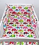 BABYLUX Bettwäsche Bezug 2 Tlg. 100 x 135 cm Kinderbettwäsche Bettwäsche Bettset Babybettwäsche (76. Elefanten Rosa)