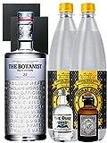 Gin-Set The Botanist Islay Dry Gin 0,7 Liter + The Duke München Dry Gin 5 cl + Monkey 47 Schwarzwald Dry Gin 5 cl MINIATUR + 2 x Thomas Henry Tonic Water 1,0 Liter + 2 Schieferuntersetzer quadratisch 9,5 cm