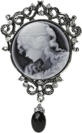KOFUN Spilla, Pendente A Forma di Ciondolo Spilla Vittoriana in Cammeo Antico Vintage da Donna