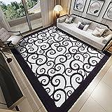 Bereichswolldecke Dekorative Wohnzimmer,Europäischen teppich Fußmatten Verschleißfesten Dauerhaft Rechteck footcloth einfache verdicken moderne für bett-E 31*47inch(80*120cm)