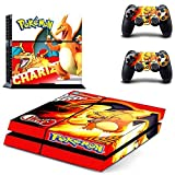 Lucky Store New Skins Sticker Pokemon Chariz Decals for Sony PlayStation Console and 2 Controller Skins PS4 Skins Covers by Lucky Store