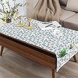 LILILI Moderne, Einfache Wasserdichte Lattice Tischdecke Tisch Tee matten Tabelle TV-Schrank-Tuch Pastorale rechteckige Tischdecke-C 80 x 190 cm (31 x 75 Zoll)