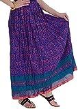 Ceil Women's Cotton Skirt (Blue)