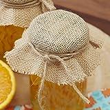 Ginger Ray Sackleinen Quadrate, zum Herstellen von Marmelade, Chutney und Geschenke mit brauner Kordel x 10-Woodland Friends