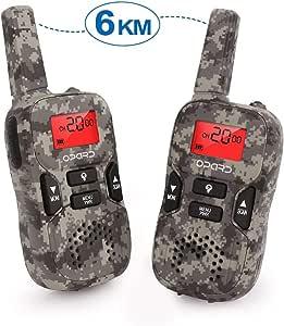 Opard Walkie Talkie Für Kinder Funkgeräte Set Und Outdoor Reisen 0 5w 8 Kanäle Vox Taschenlampe Mit Lcd Display 2er Set Spielzeug