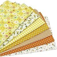 7 piezas 49cm * 49cm tela de algodón estampado floral para patchwork,telas para hacer