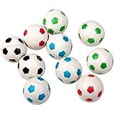 Schramm® 10 stuks rubber stuiterballen voetbal ontwerp 27mm rubber stuiterbal stuiterbal tombola kinderverjaardagsfeestje 10