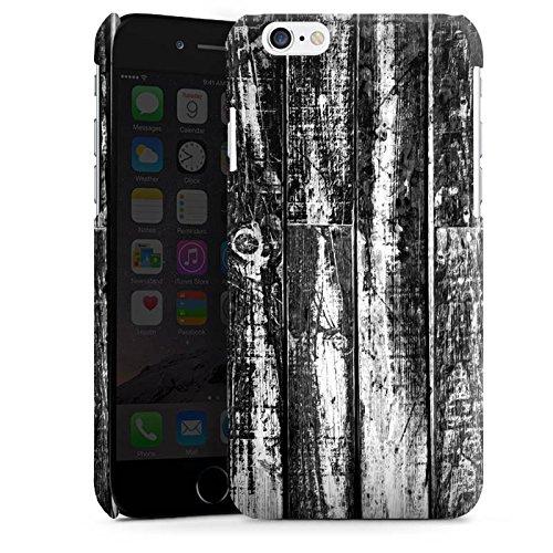 Apple iPhone 4 Housse Étui Silicone Coque Protection Bois Sol en bois noir blanc Look planches Cas Premium brillant
