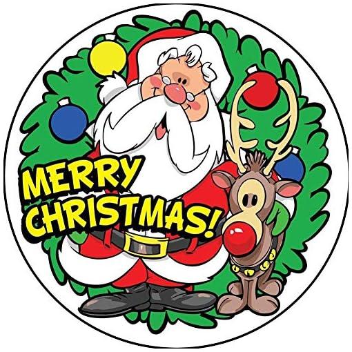Clown-Supplies-Inc-Frohe-Weihnachten-Aufkleber