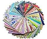 50pcs Stoffpaket 100% Baumwollstoff Patchwork Bedruckt Stoff zum Nähen Stoffreste 30 x 30cm für Kinder DIY Handwerk Scrapbook Quilten
