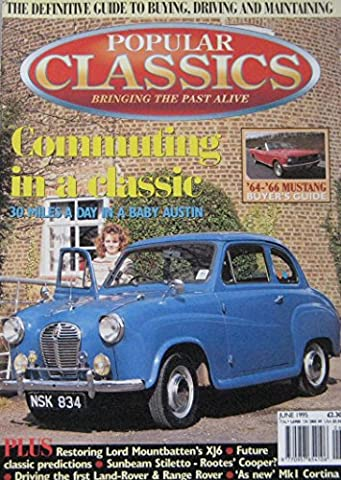 Popular Classics magazine 06/1995 featuring Jaguar, Austin, Ford, Lea-Francis, Sunbeam