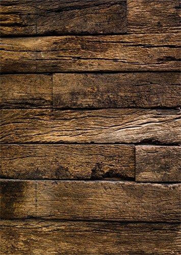 YongFoto 1x1,5m Vinyl Foto Hintergrund Holzwand Distressed Brown Holz Grunge HolzHolz Brett Fotografie Hintergrund für Photo Booth Baby Party Banner Kinder Fotostudio Requisiten