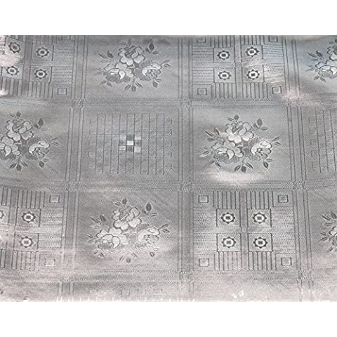 Tovaglia trasparente–Tavolo schermo–4Elegante Designs: Rose, a quadretti, foglie e Lillie–dimensioni: