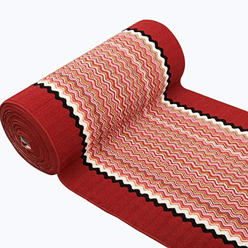 GuoWei Longue Tapis pour Couloir Entrée Antidérapant 6mm Onduler Personnalisé Plusieurs Tailles, 2 Couleurs (Couleur : Rouge, taille : 1.18x1m)