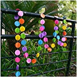 Raylinedo® 9X Multi Color Paper Garland For Wedding Birthday Anniversary Party Christmas Girls Room Decoration Round Shape3D
