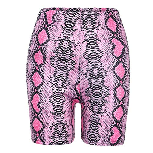 Angebot UFODB Damen Shorts Sport Yoga Sexy Kurze Hose Sweatpants Laufshorts Snakeskin Print Leggings Sports Casual Bikerhose Sportshorts Strandhosen Capri Spandex Jersey