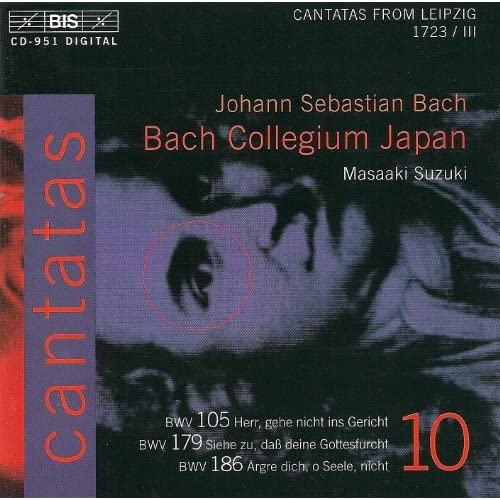 Bach, J.S.: Cantatas, Vol. 10 - Bwv 105, 179, 186