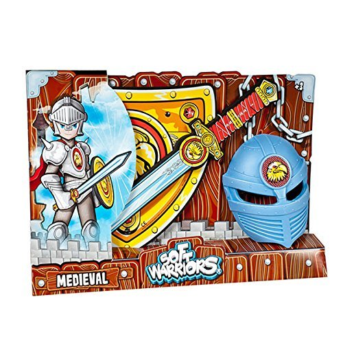 Blue Rocket 21132 - Medieval Pack Mask, Sword and - Rocket Pack Kostüm