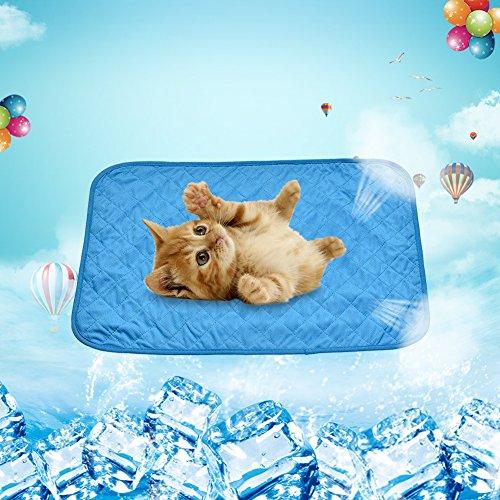 luerme Pet Kühlmatte Kühlung Viskose Faser Pet Kühlkissen Hitze Relief Pad Sommer Kühlmatte für Puppy Hund & Katze
