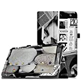 Fintie Folio Hülle Case Schutzhülle Tasche für 10 Zoll Android Tablet-PC Inklusive. rotor 25,7 cm (10.1 zoll), Excelvan 10.1